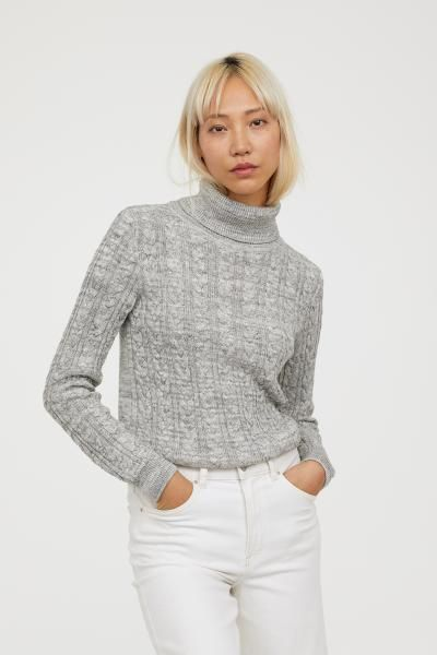04fab7dbfc4a9d Cable-knit polo-neck jumper | Summer 2018 | Polo neck, Cable knit ...