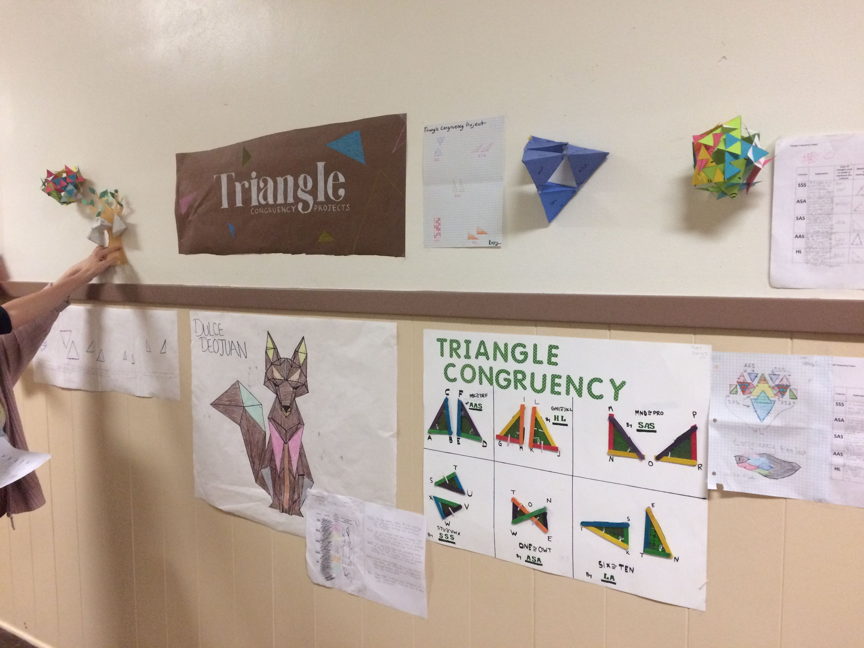 Triangle congruence project High school math, Basic math