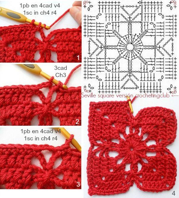 Buscaba un motivo para renovar unos cojines que compré precisamente para hacerles una funda de crochet con las lanas gruesas que están ta...