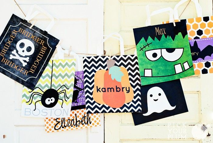 Just ordered these cute Halloween totes from Pick Your Plum.  They are PERSONALIZED and only $4.99 each!