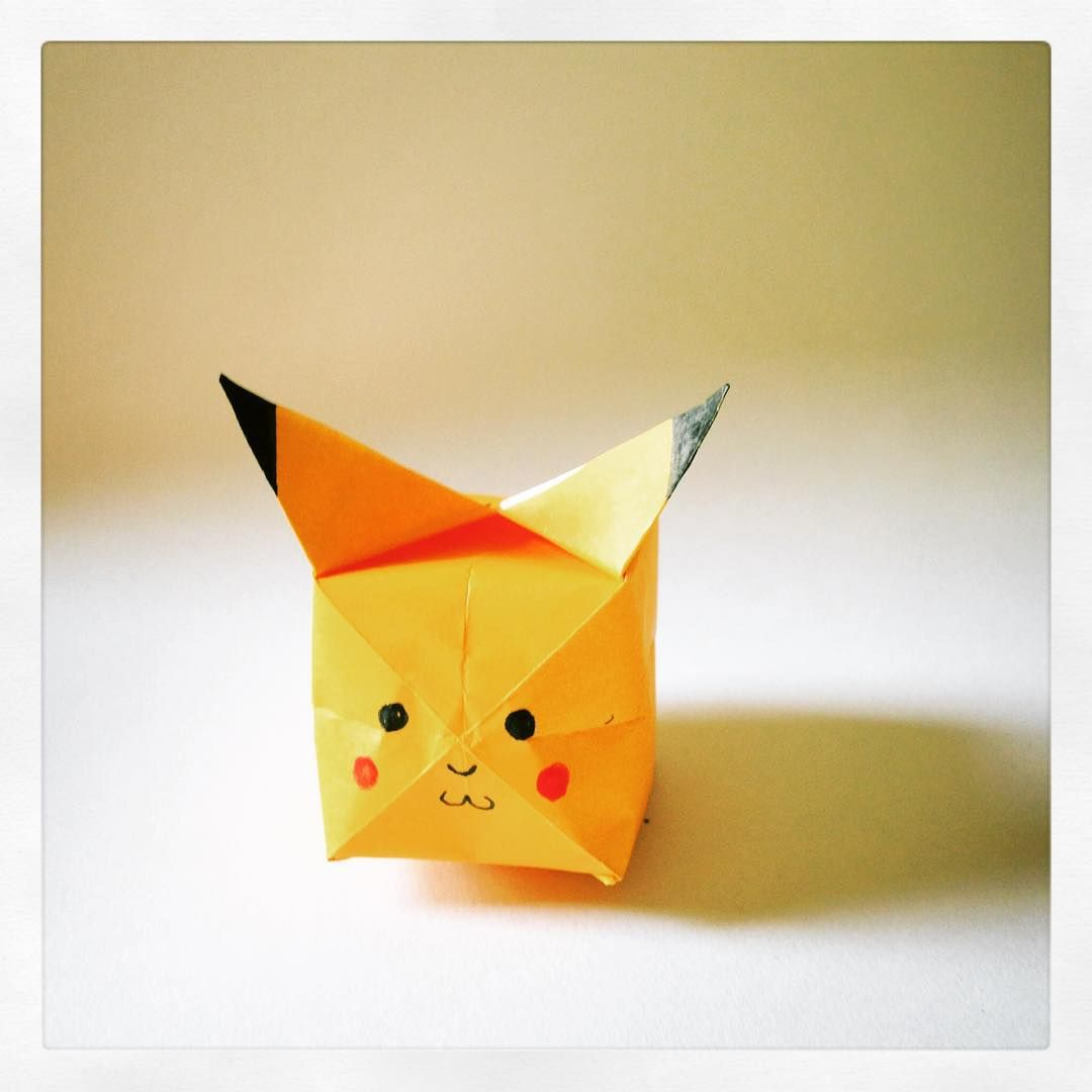 Papercraft Day 16 And Probably My Very Favourite To DatePikachu Fold