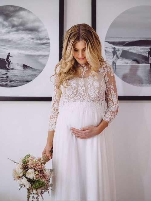 Vestidos de novia para embarazadas por civil
