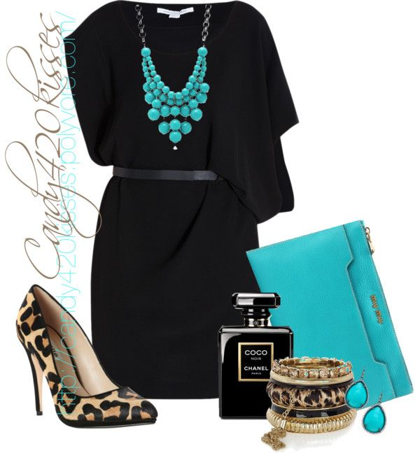 turquoise goes with my black turquoise and leopard