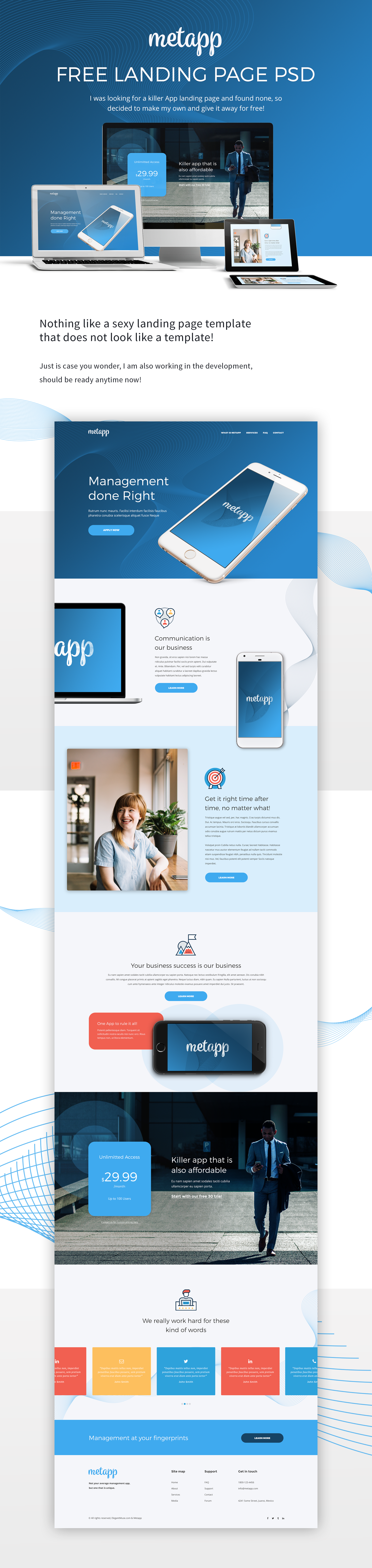 Presentation C Landing Page App Landing Page Free Web Design