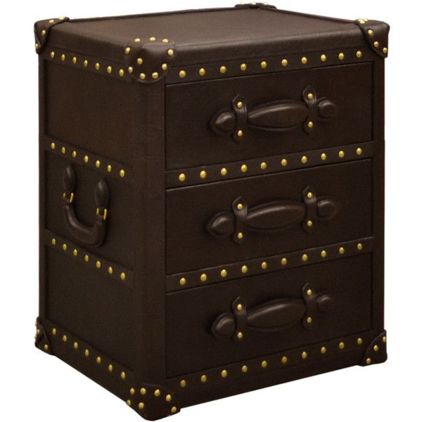 Multiyork Heybridge Leather Trunk Table With 3 Drawers Found On Polyvore