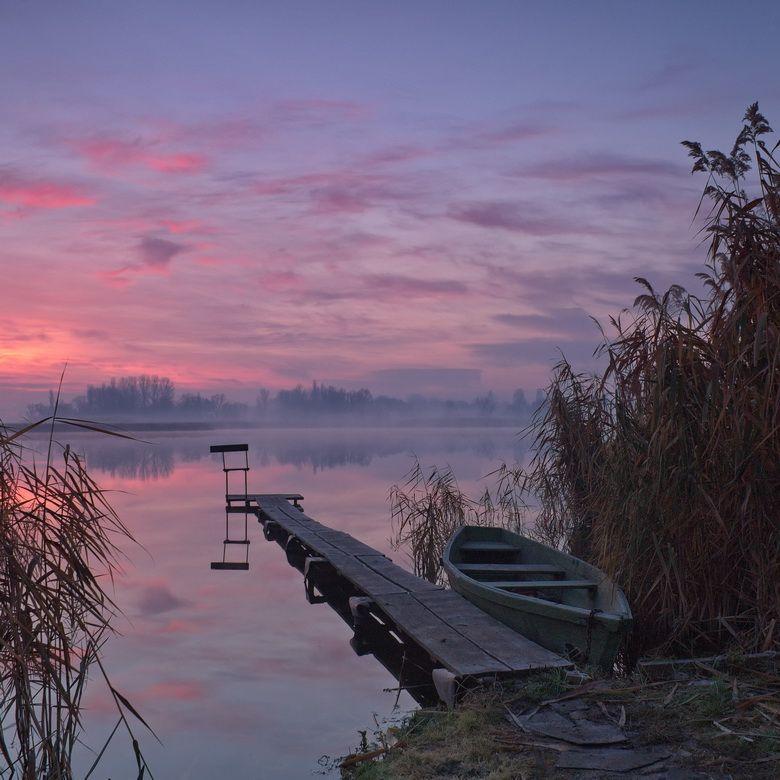 """фото """"***"""" метки: пейзаж, природа, Речка, лодка, мостик ..."""
