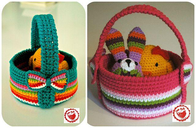 Ravelry: Jam made Easter basket FREE pattern by Jen Maude.
