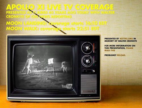 Apollo 11 on TV