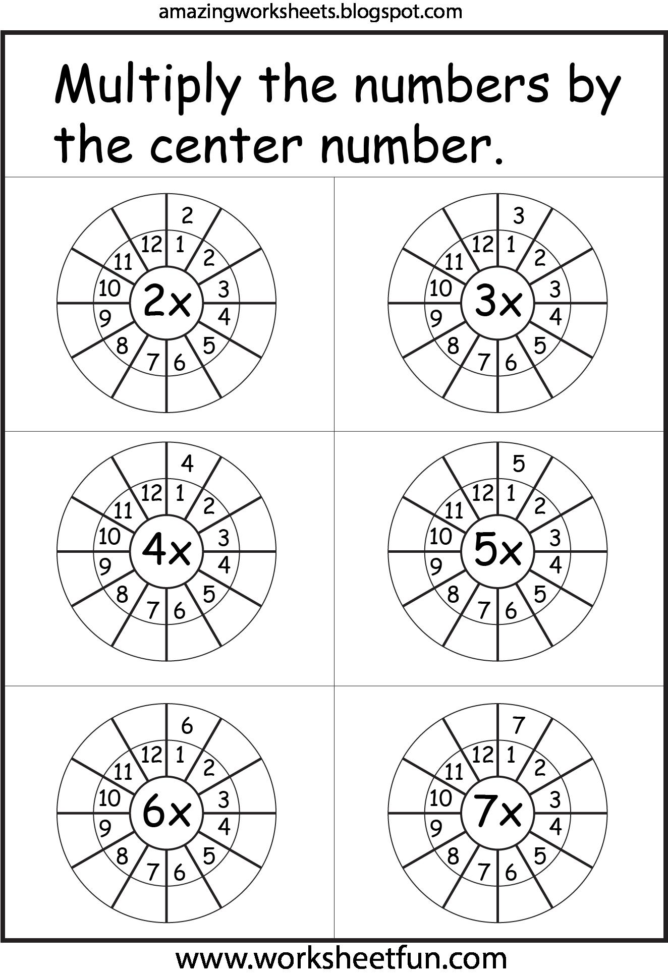 Multiplication Worksheets Math Educacion Escuela
