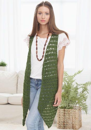 Retro Alert 1970s Style Bohochic Long Vest Free Crochet Pattern