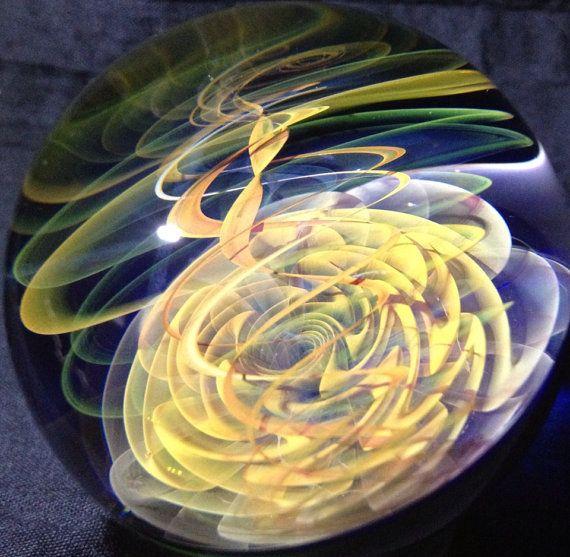 Spirit Dance Glass Marble by SandSpiritGlass on Etsy, $140.00
