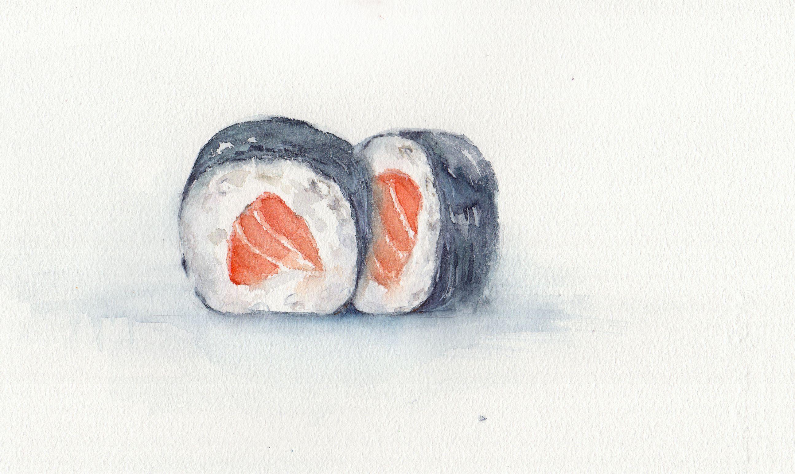 особенность суши рисунки красками идеальным