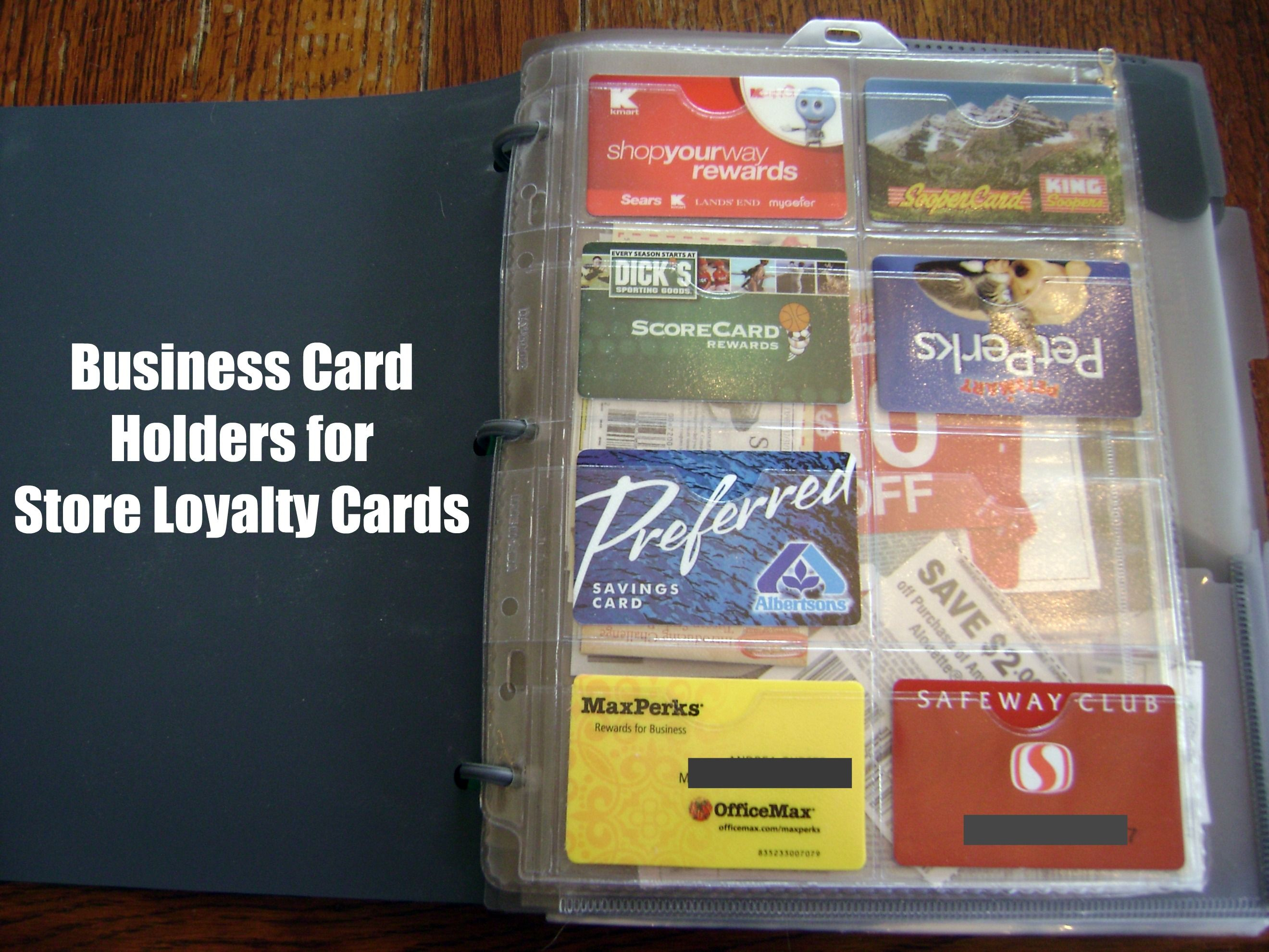 How to organize your coupons loyalty cards business card holders business card holders for store loyalty cards colourmoves