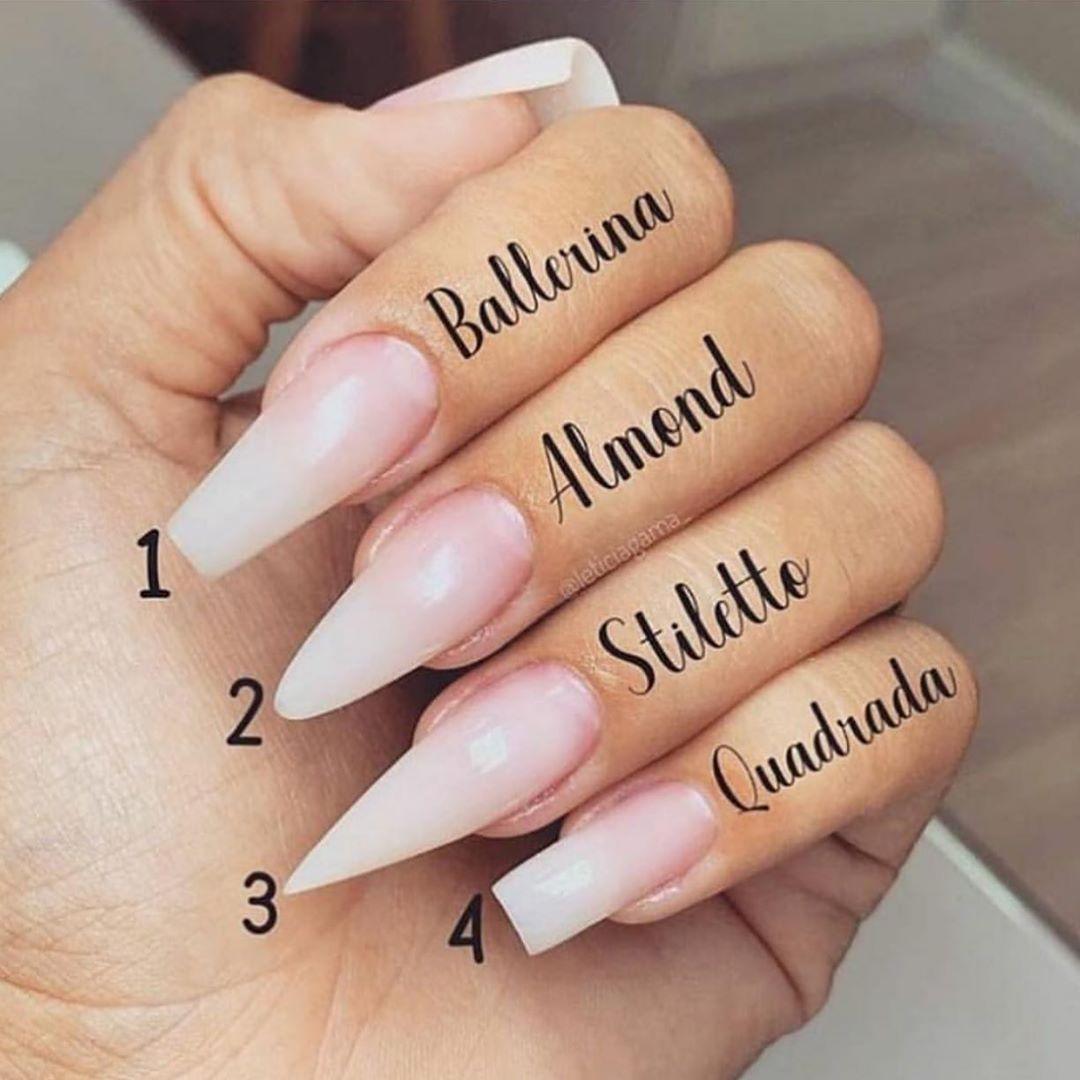 Nails Art Easy Manikur Akrilik Tirnak Sekilleri Jel Tirnaklar