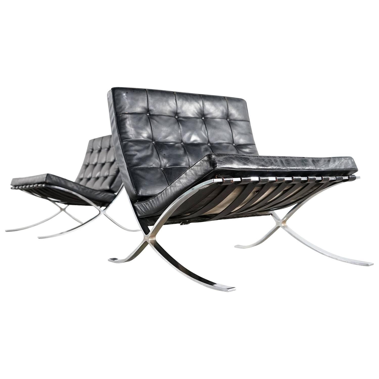 van der rohe furniture. Mies Van Der Rohe Barcelona Chair By Knoll International, Edition 1955 Furniture