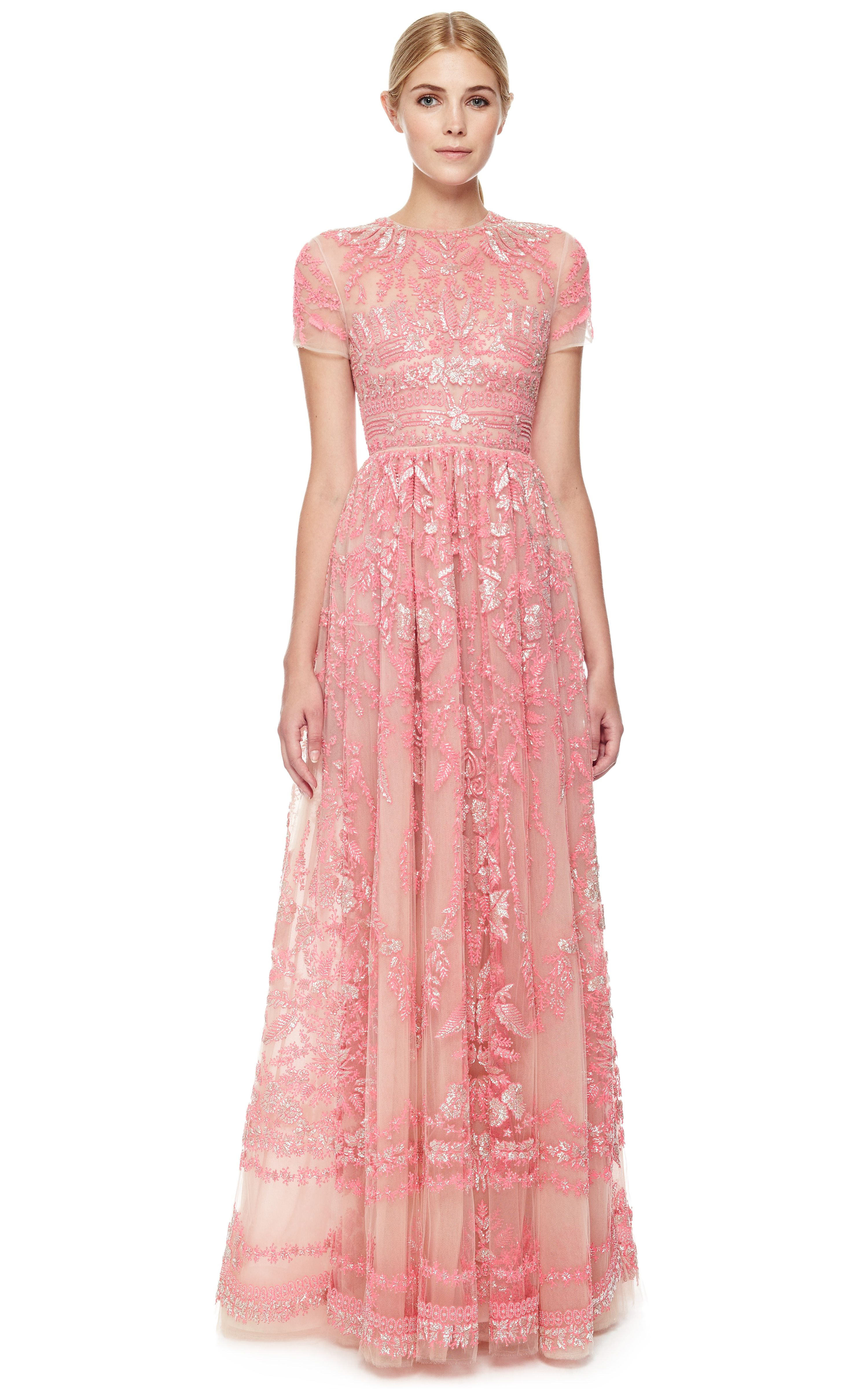 Poudre Tulle Illusione Gown by Valentino Now Available on Moda ...