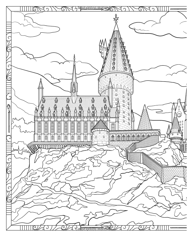 Harry Potter Magical Places and Characters Colouring Book 3: Amazon ...