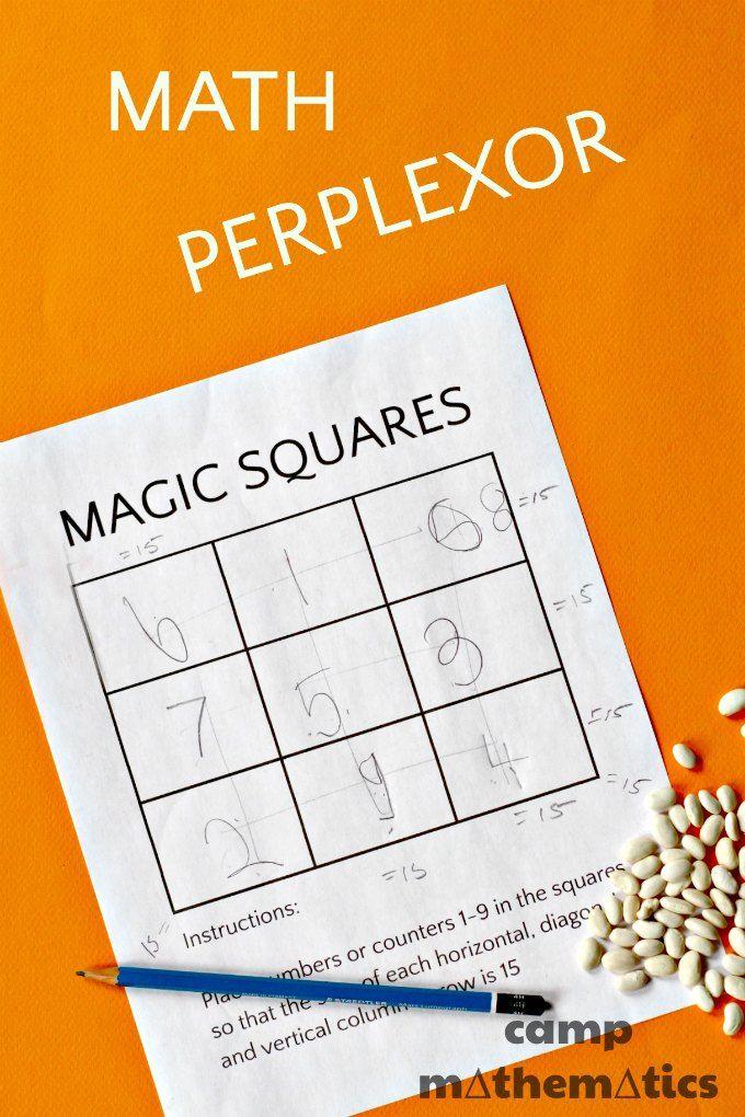 Magic Squares Math Fun | Maths, Mathematical game and School