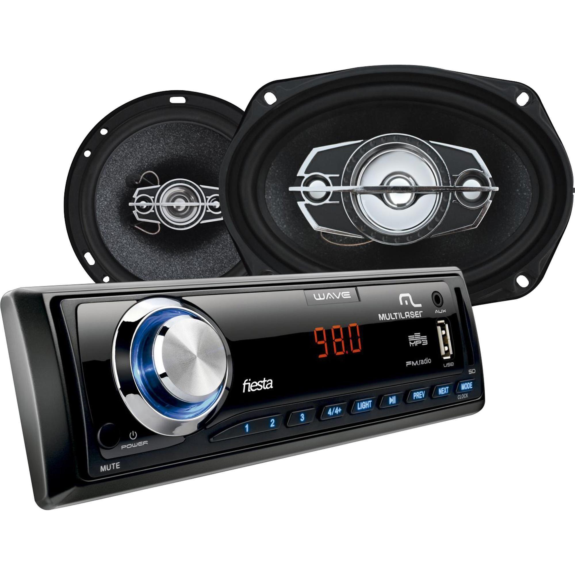 Kit Som Automotivo Radio Mp3 2 Alto Falantes 6 2 Alto