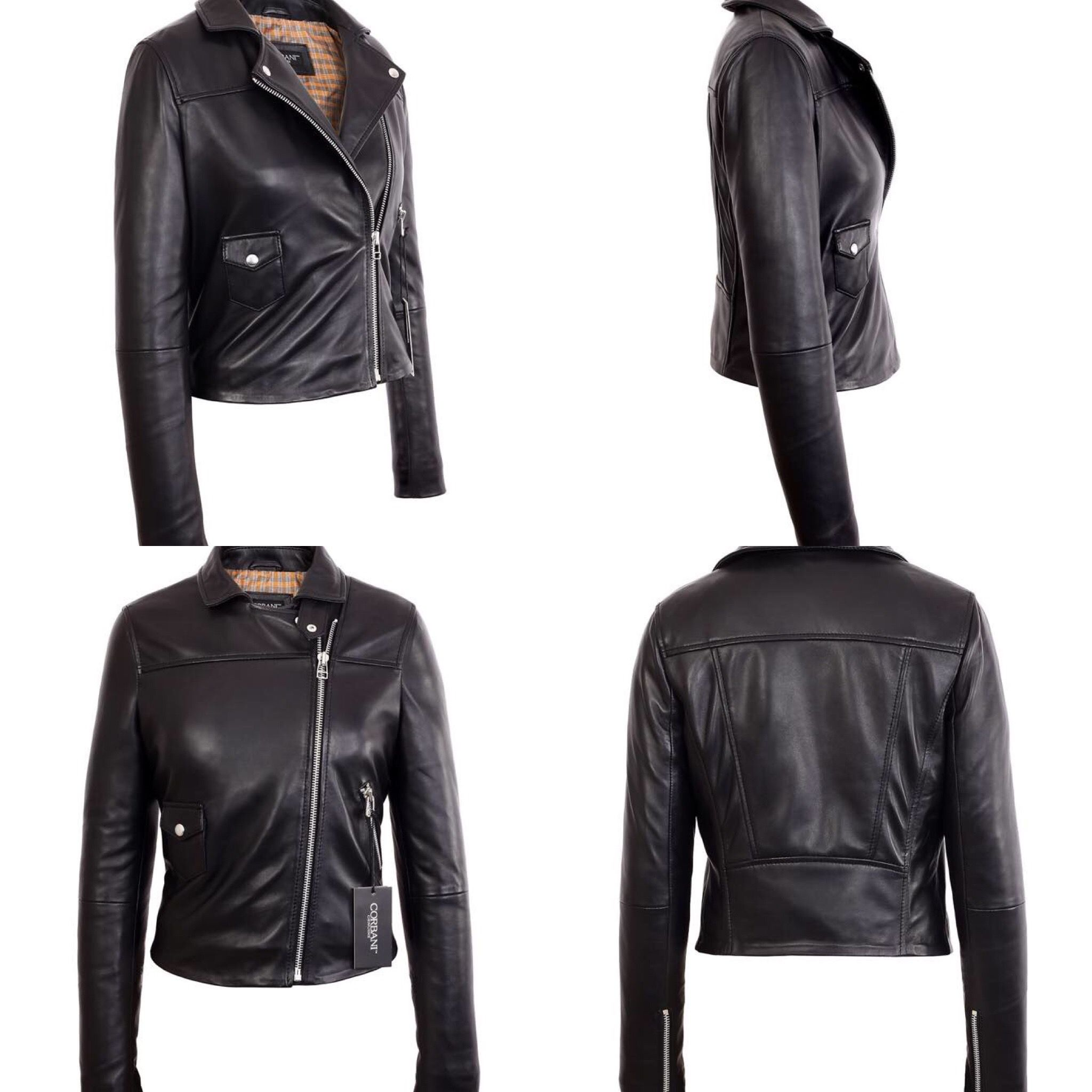 018038816 Pin by Corbani on Womens Leather Jackets | Leather, Lambskin leather ...