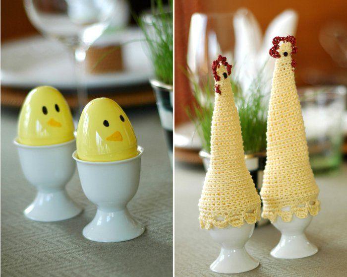 tischdeko ostern ostereier dekorieren lustige osterideen