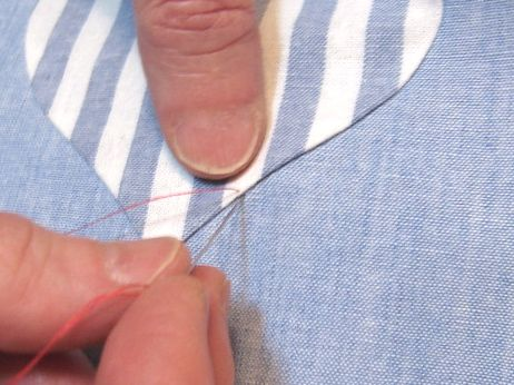 How to hand applique with two layers freezer paper then starch