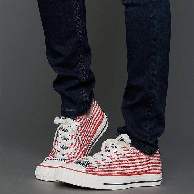 Converse Shoes   C O N V E R S E American Flag Chuck Taylor