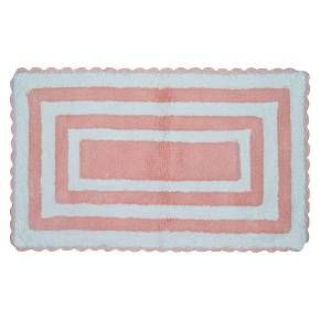 Keep the kids' bathroom as fun as they are with this Pink Striped Bath Rug from ...