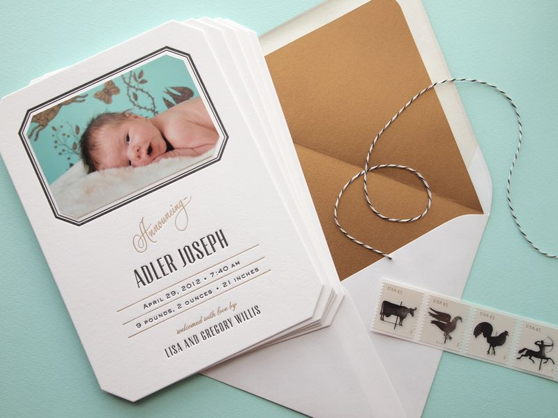 17 Best images about Graphic Design Baby – Birth Announcement Design