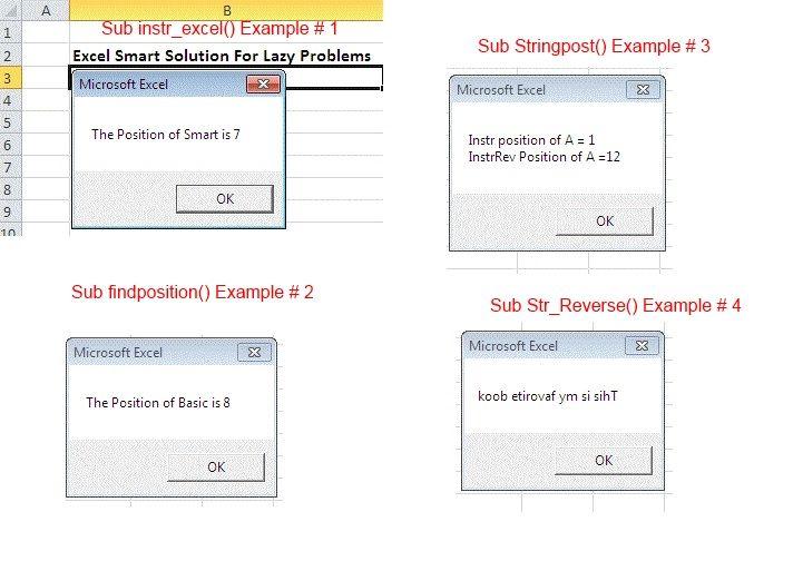 VBA Instr Function   Smart solutions. Microsoft excel. Solutions