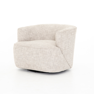 Four Hands Mila Swivel Chair Brazos Dove With Images Swivel