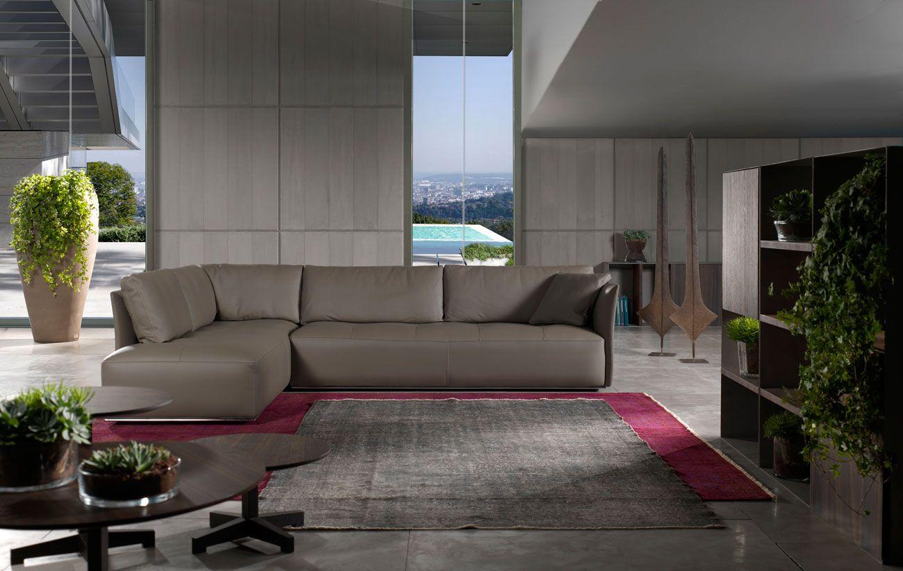 New York Sofa By Stefano Conficconi Italian Sofa Furniture Leather Corner Sofa