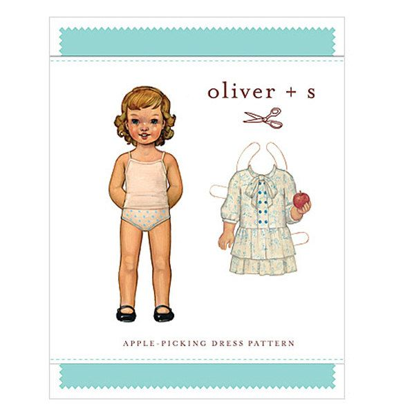 GIRLS DRESS Sewing PATTERN Oliver + S Apple Picking Dress Dropped ...