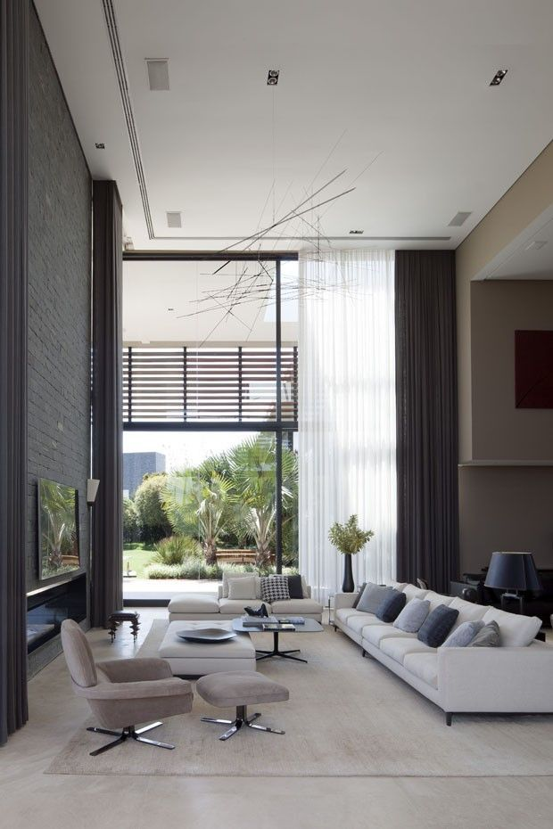 Spacious, contemporary living area. #love #style