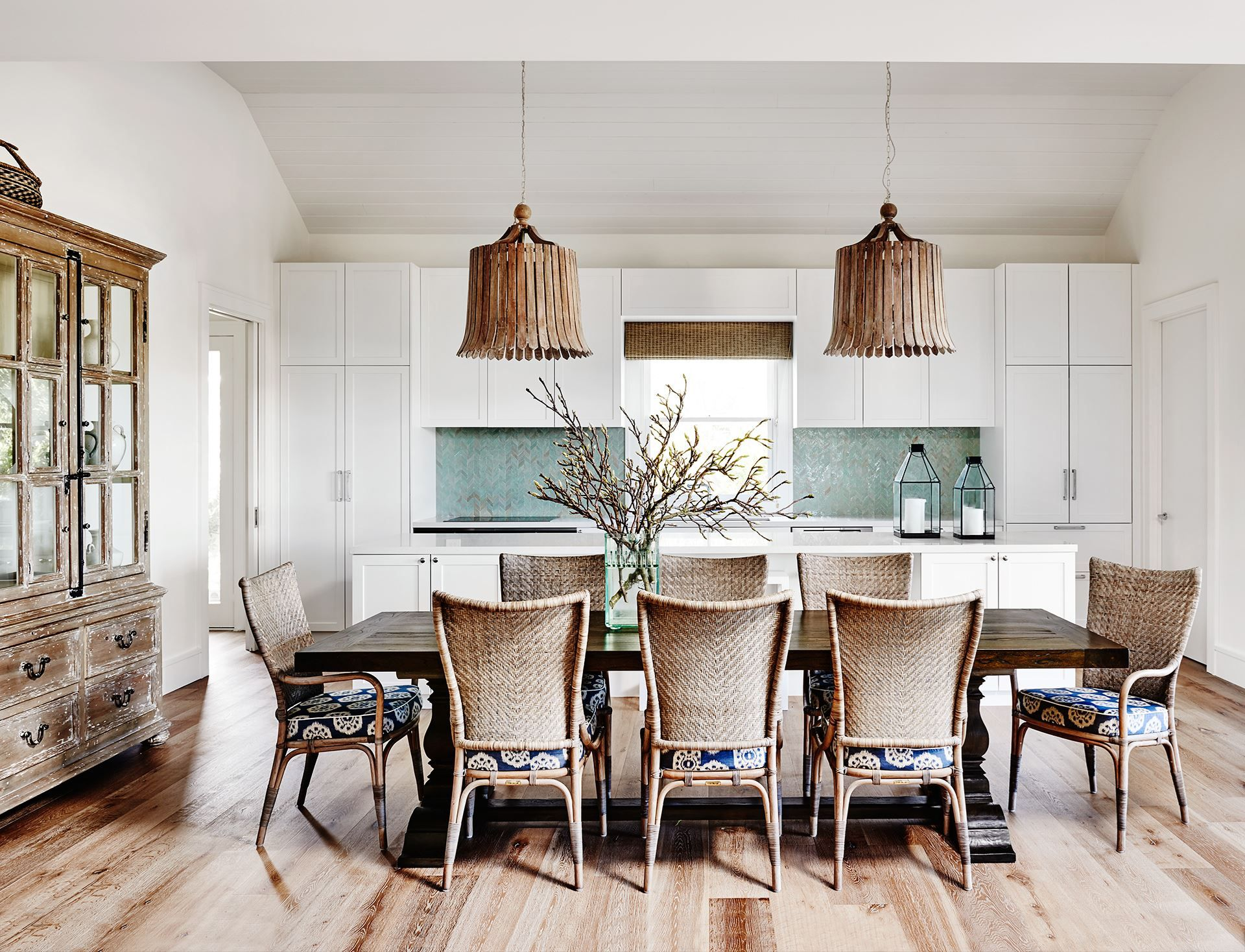 Dining room from Hamptonsstyle holiday home on Victoria's