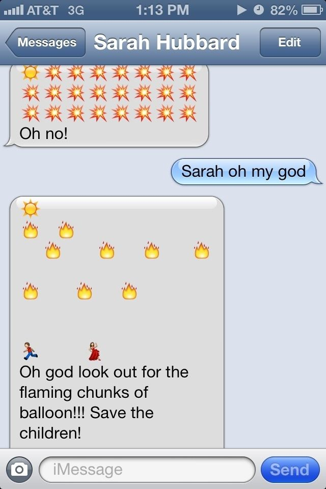 The Balloon Apocalypse Birthday Text Emoji Texts Funny Messages