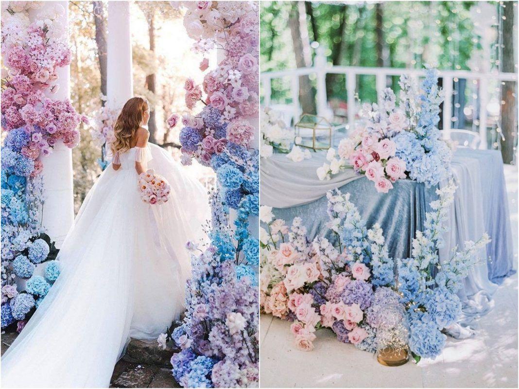 2017 Cheap Long Yellow Sky Royal Blue Light Purple Pink ... |Light Pink And Blue Wedding