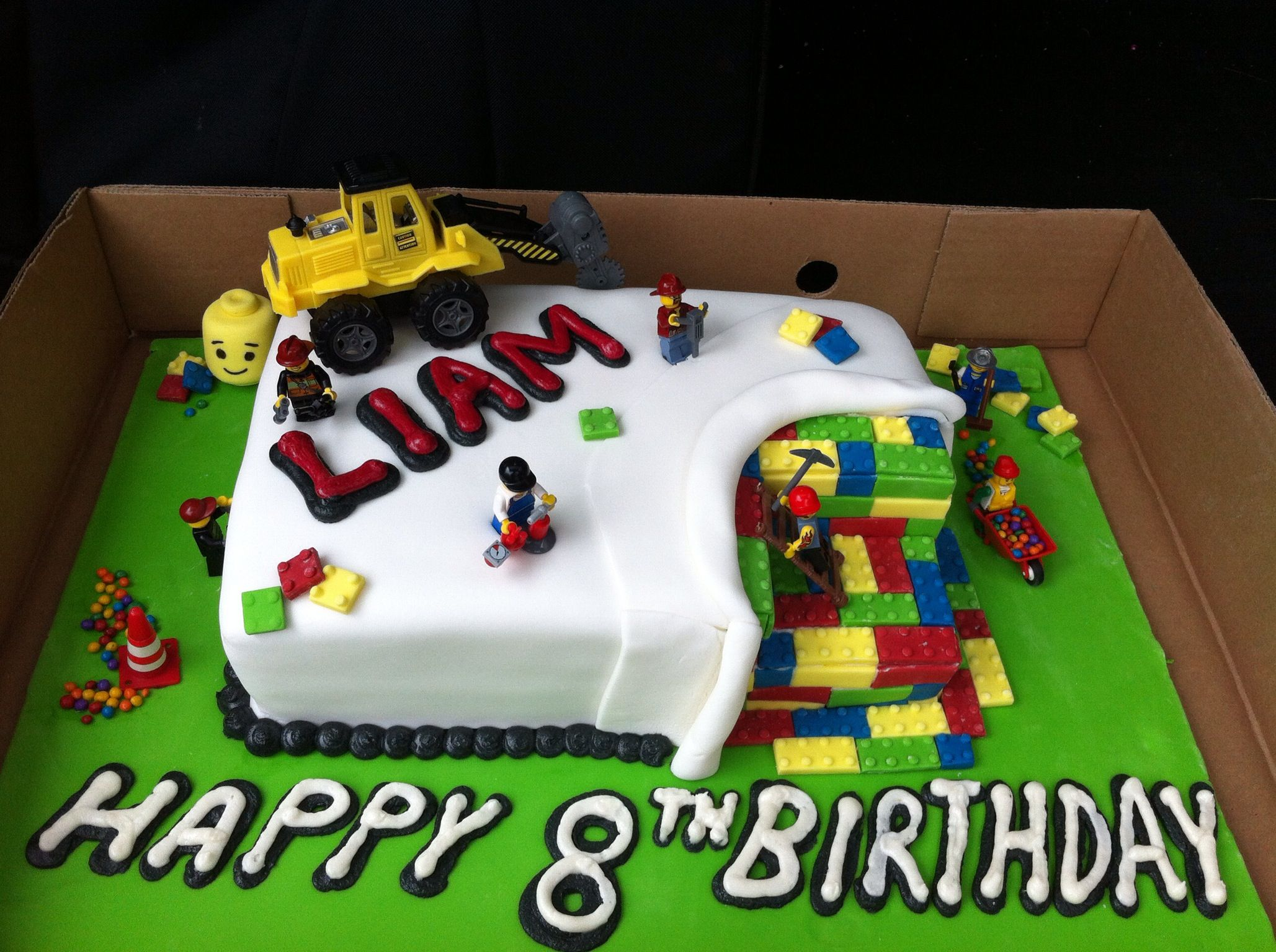 Lego Construction Cake Brandon Pinterest Lego Construction And