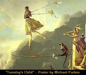 """""""Tuesday's Child""""  my 2nd Michael Parkes Painting"""