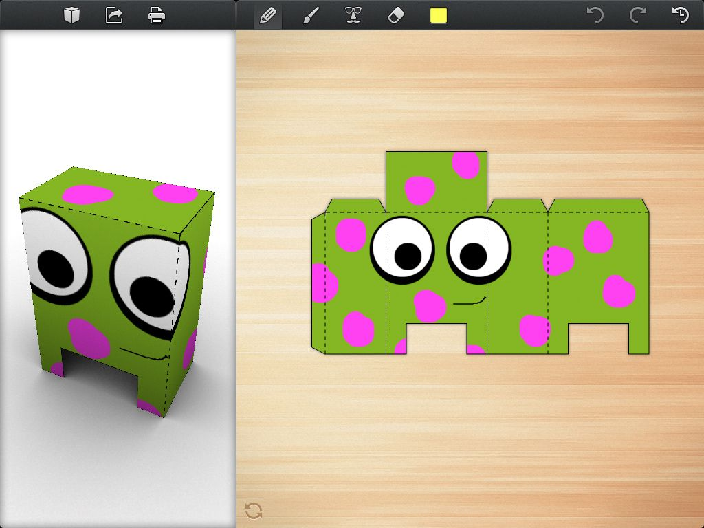 Foldify: this is an app for creating amazing 3D figures out of folded paper.