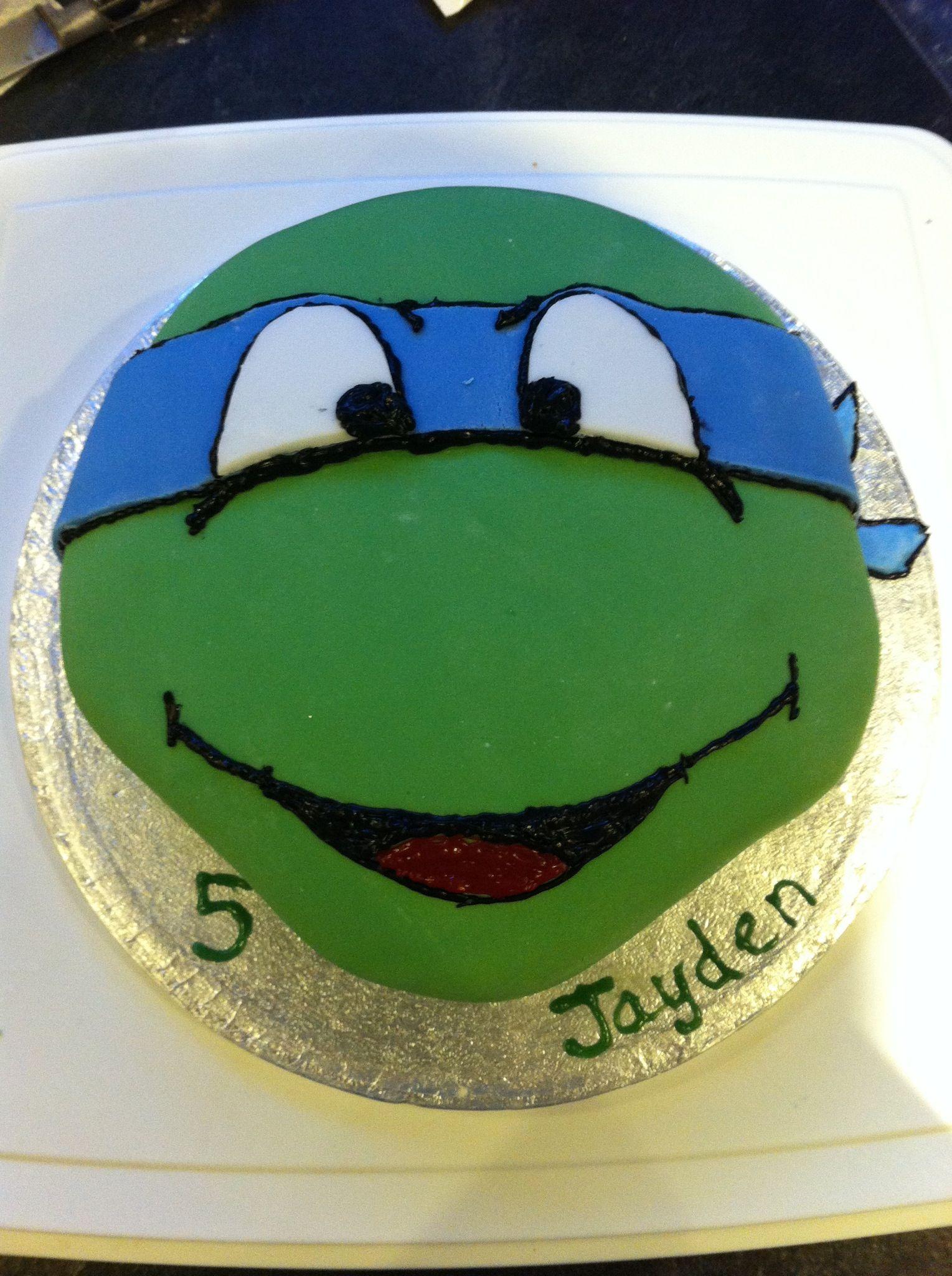 Leonardo Teenage Mutant Ninja Turtle Cake For My Sons Birthday