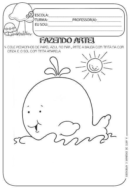 Atividade Pronta Fazendo Arte Fichas 4 Preschool Art Projects