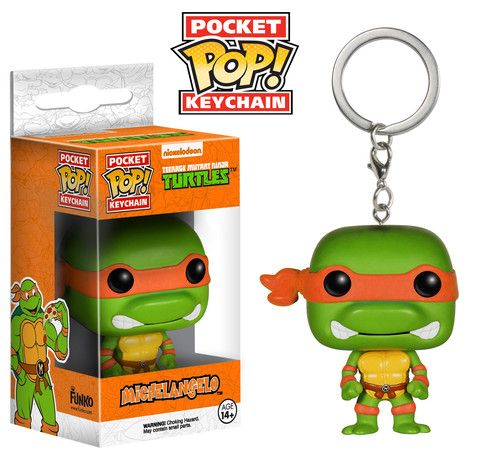 POP Funko Figure TMNT Michelangelo Pocket POP Keychain