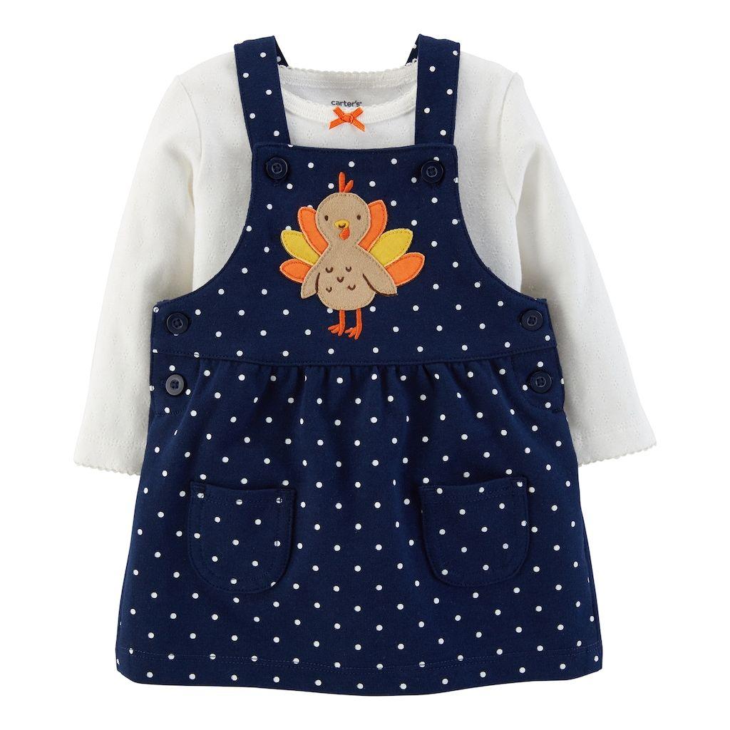 Carter/'s Baby Girl 2-Piece Cat Halloween Bodysuit /& Jumper Set Size NB Newborn