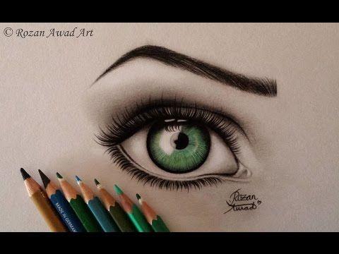 تعلم رسم الوجه بالرصاص للمبتدئين مع خطوات بسيطة Youtube Color Pencil Drawing Eye Art Eye Drawing