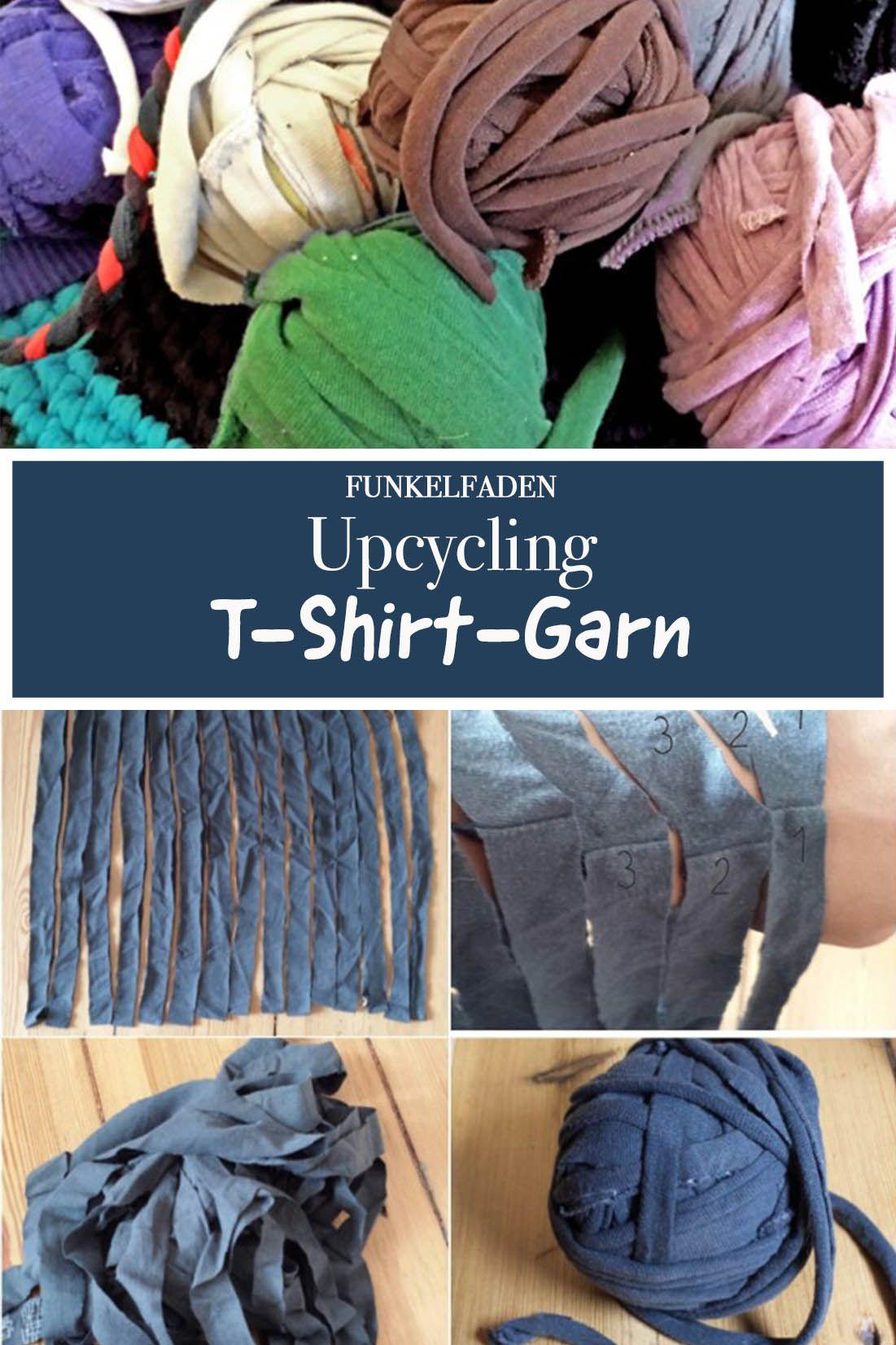 Upcycling Anleitung - T-Shirt-Garn selber machen #haken
