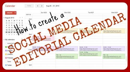 FREE Social Media Editorial Calendar Download - Jupiter Labs