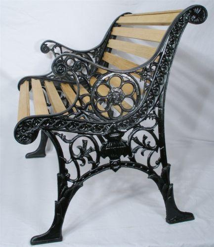Victorian French Empire Antique Ornate Heavy Cast Iron Park