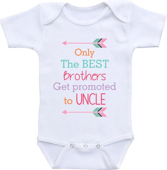 932143377 Only the Best Brothers get promoted to Uncle Onesies® brand Gerber Onesie  Baby Bodysuit. Pregnancy a