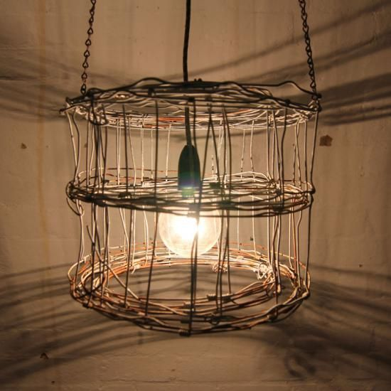Wire lamp shad industrial recycled rustic farm ring lock wire wire lamp shad industrial recycled rustic farm ring lock wire light greentooth Images